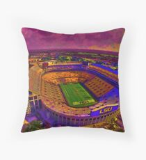 LSU Tigers Death Valley Throw Pillow