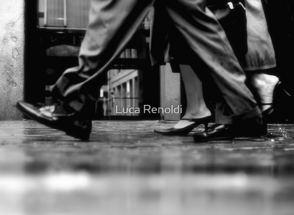 Walking in the rain by Luca Renoldi