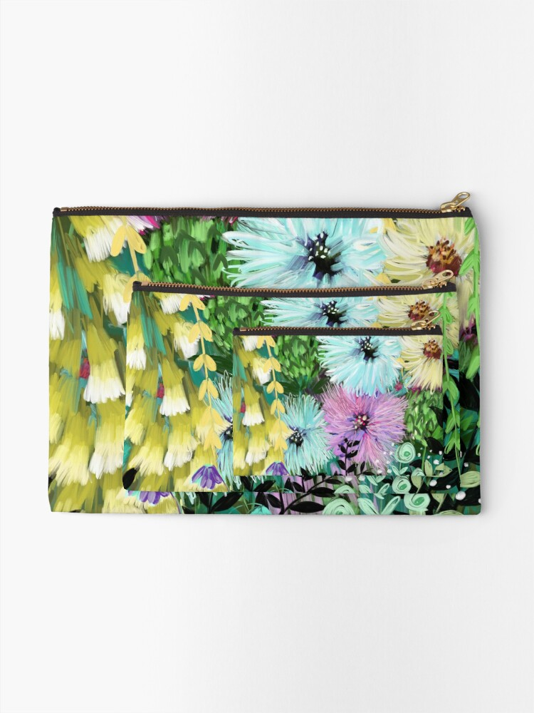 Alternate view of Candy Floral Forest Meadow Zipper Pouch