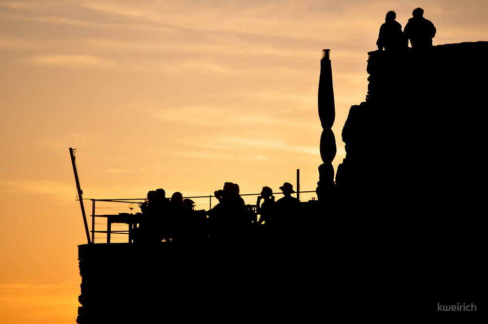 Silhouette Sunset in Riomaggiore, Italy by kweirich