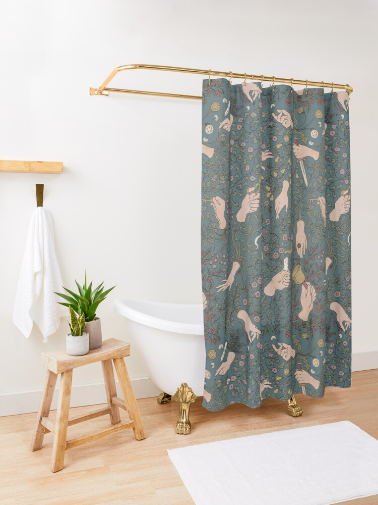 Alternate view of Take my hands Shower Curtain