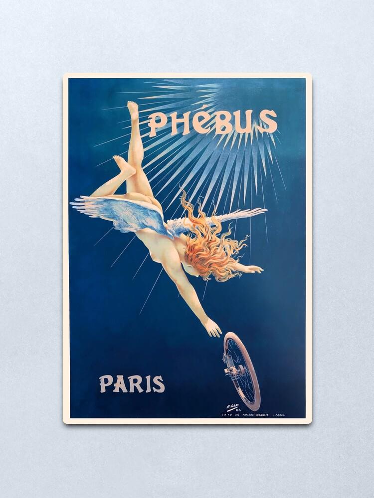 Alternate view of 1898 Phebus Bicycles French Advertising Poster Metal Print