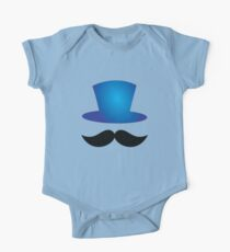 Top hat with mustache One Piece - Short Sleeve