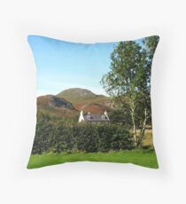 Autumn Cottage At Poolewe Throw Pillow