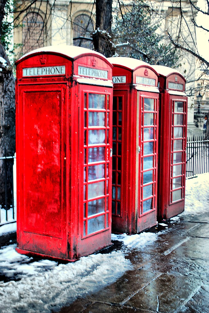 Three Telephone Boxes by KarenM