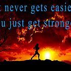 Running Inspirational Quote by wimblettdesigns