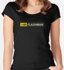 I AM FLASHMAN Women's Fitted Scoop T-Shirt
