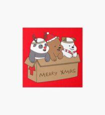 We Bare Bears Xmas Art Board Print
