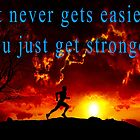 Running Inspirational Quote Male by wimblettdesigns