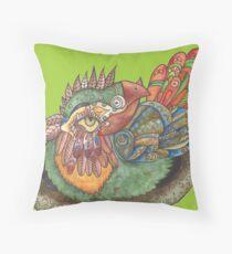 Badtempered bird Throw Pillow