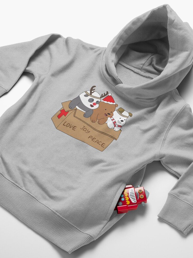 Alternate view of We Bare Bears Love Toddler Pullover Hoodie