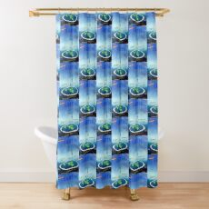 Flat Earth Bro Science Shower Curtain