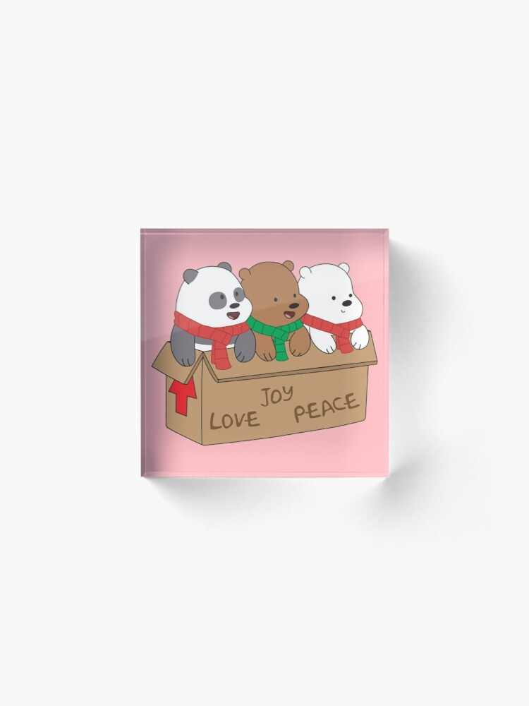 Alternate view of We Bare Bears Love Acrylic Block