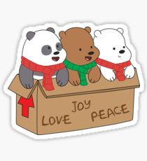 We Bare Bears Love Sticker