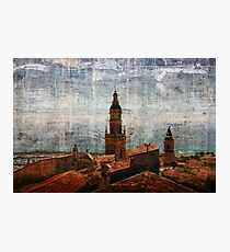Menton cathedral belfry Photographic Print