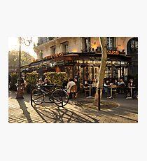 Café Le Metro at Sunset, Paris Photographic Print