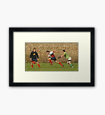 Rugby - Going for the Try - Richmond Ontario Framed Print