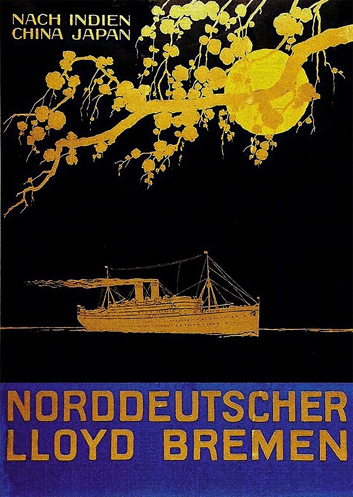 Bremen to the Orient...NDL vintage ad by edsimoneit