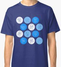 Dudes Doing Stuff (Blue) Classic T-Shirt