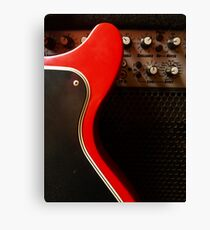Amplifier and Red Guitar Canvas Print