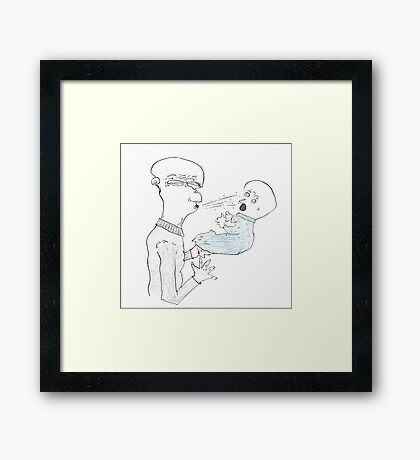 germs can kill Framed Print