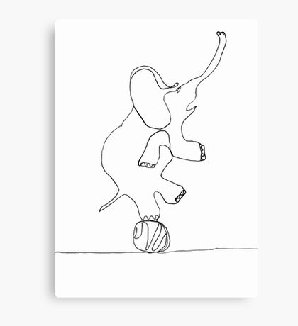 elephant on ball Canvas Print