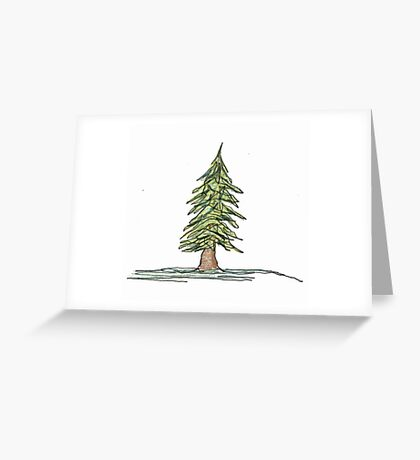 evergreen Greeting Card