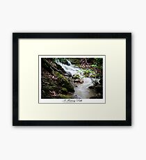 A Flowing Path Framed Print