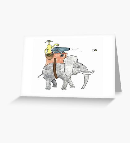 giant olive shooter Greeting Card