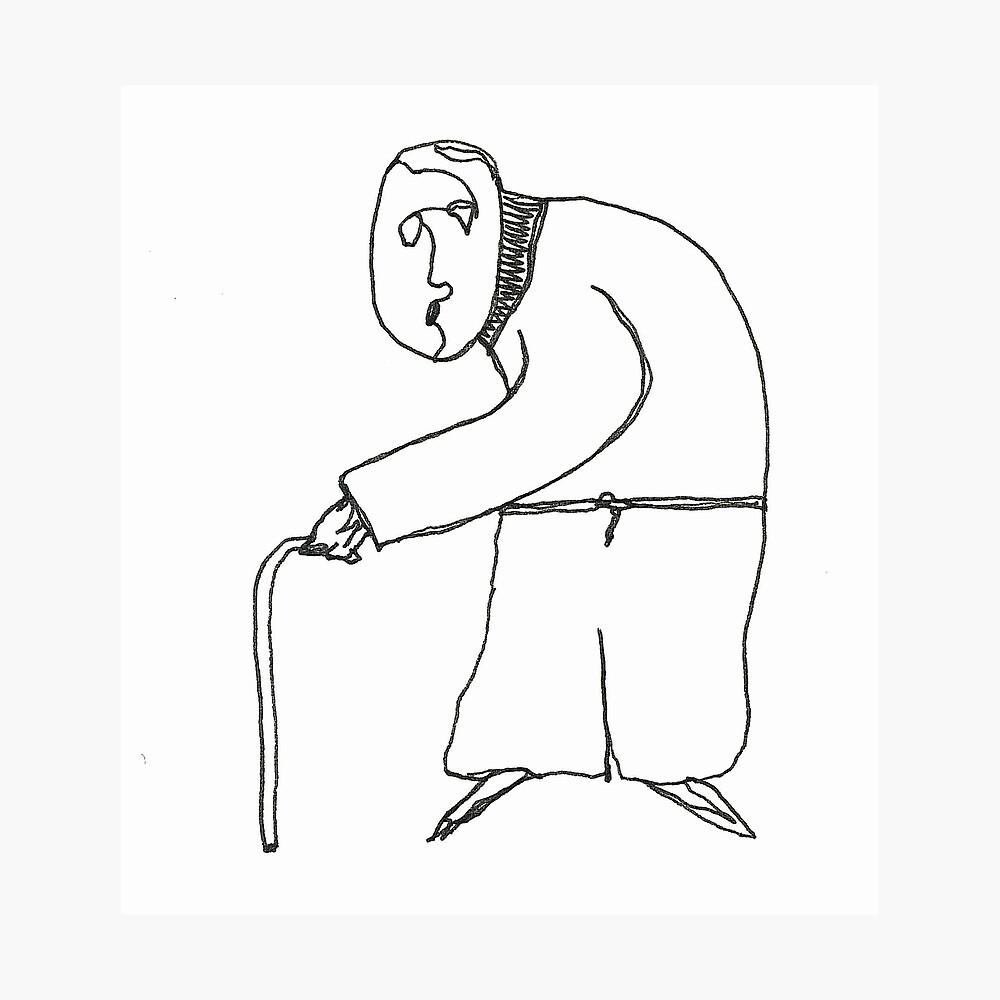 old man Fotodruck