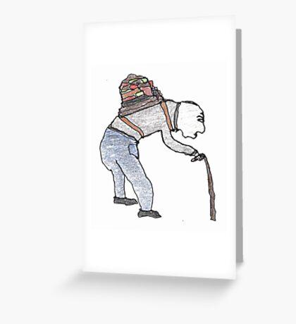 old man burden Greeting Card