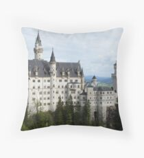 Neuschwanstein Castle in Southern Germany Throw Pillow