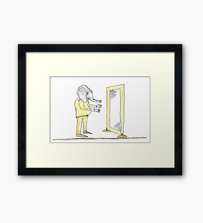 herman's suprise Framed Print