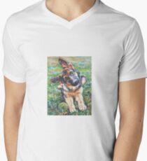 German Shepherd Fine Art Painting T-Shirt