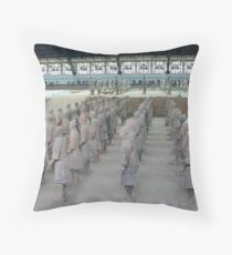 Xian Terracotta Soldiers Throw Pillow