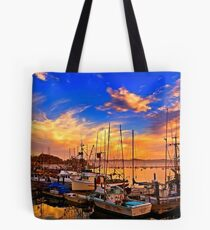 The Dock At Sunset Tote Bag