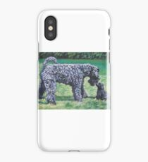 Kerry Blue Terrier Fine Art Painting iPhone Case