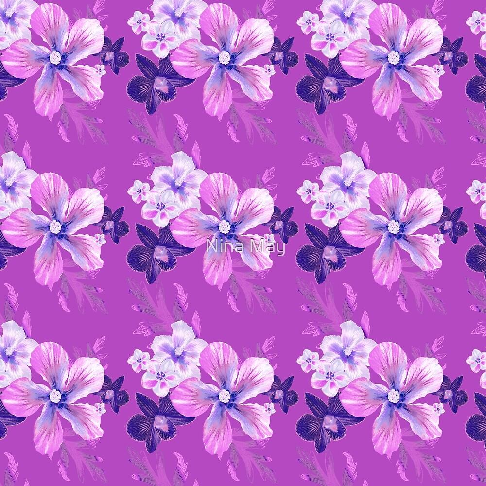 Orchid Tropical Flora by Nina May