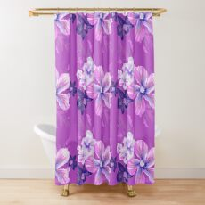 Orchid Tropical Flora Shower Curtain