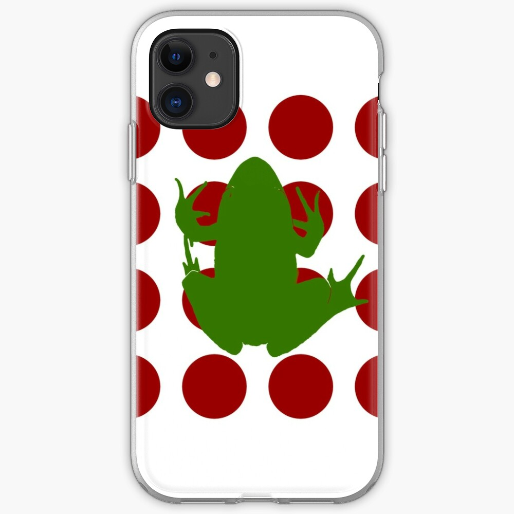 Simple Frog in the Bog iPhone Soft Case