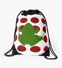 Simple Frog in the Bog Drawstring Bag