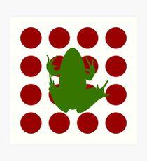 Simple Frog in the Bog Art Print