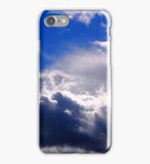 dramatic clouds in the blue sky iPhone Case/Skin