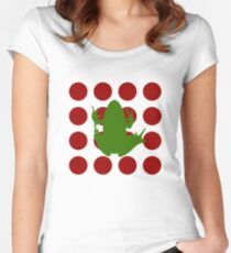 Simple Frog in the Bog Fitted Scoop T-Shirt