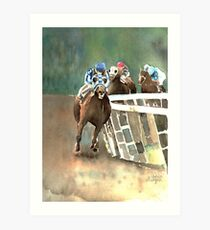 Into The Stretch And Heading For Home-Secretariat Kunstdruck