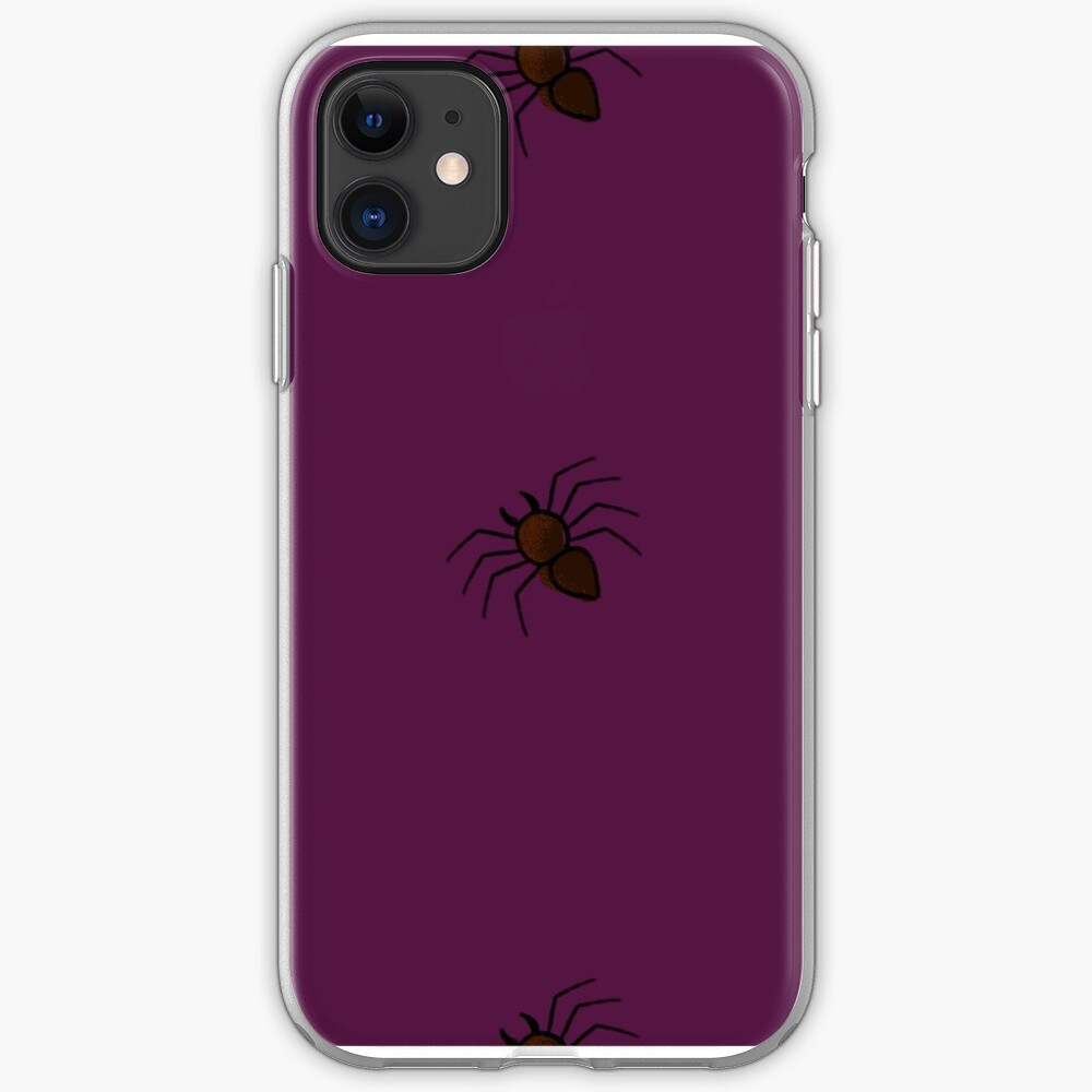 Spooky Spiders- Purple iPhone Soft Case