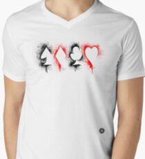 Suits Outline 2 Men's V-Neck T-Shirt