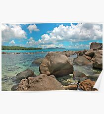 Barbarons Beach, Seychelles Poster