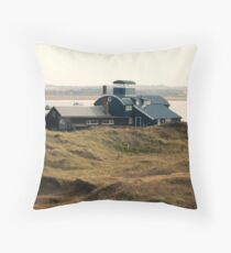 Building at Blakeney Point Throw Pillow
