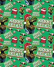 Christmas T Rex Santa Hat by MudgeStudios